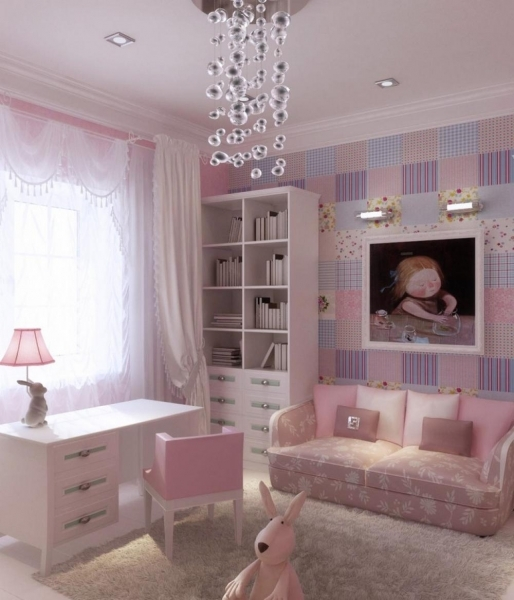 Awesome Sweet Little Girl Bedroom Decorating Ideas With White Wooden Desk Bedroom Decorating Ideas Small Girls