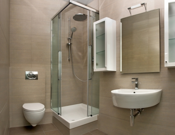 Best Shower Room With Shower And Glass Door Combined With Mirror And Small Shower Spaces