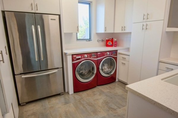 Delightful Photos Hgtv Small Laundry Room With Red Washer And Dryer Photos 155
