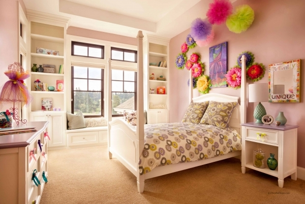 Fascinating Dazzling Little Girl Bedrooms Decorating Ideas With White Wooden Bedroom Decorating Ideas Small Girls