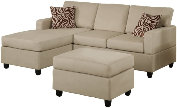 Fascinating Furniture Cream Canvas Sectional Couches With Wooden Short Legs Small Sleeper Sofa With Chaise