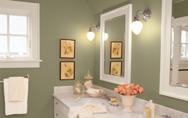 Gorgeous Gorgeous Gray House Interior Bathroom Painting Features Fancy Top Paint Color For Small Bathroom