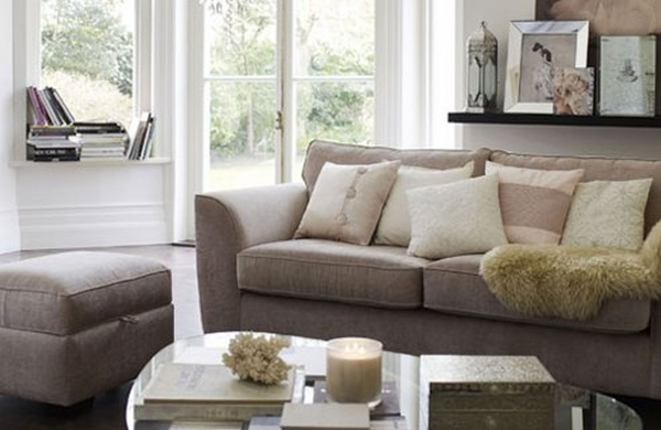 Image of Contemporary White Sleeper Sofa And Rectangle Fur Rug Mixed Twin Contemporary Loveseat Small Spaces