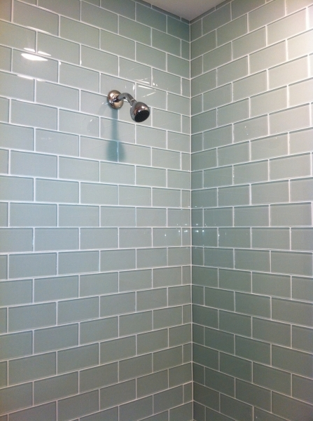 Incredible Bathroom Remodel On Pinterest Hex Tile Tile And Subway Tiles Small Bathroom Renovation With Subway Tile In Shower