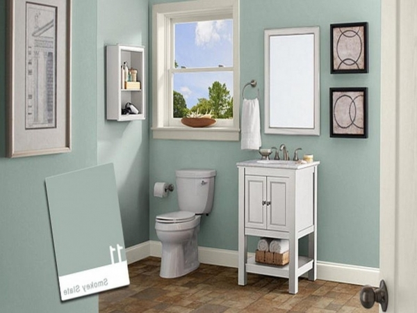 Incredible Bathroom Soft Blue Wall Color Soft Blue Wall Color About Small Small Bathroom Paint Colors