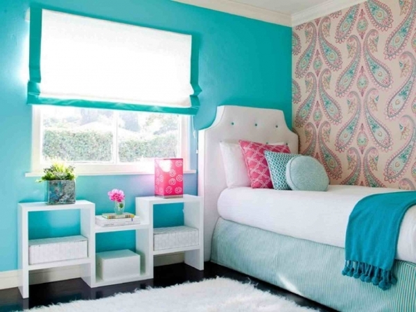 Incredible Inspiring Small Bedroom Ideas For Girl With Turquoise Green Paint Bedroom Decorating Ideas Small Girls