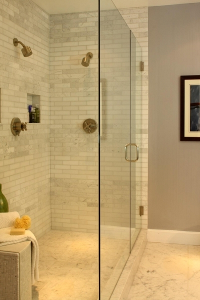 Marvelous Photos Hgtv Small Bathroom Renovation With Subway Tile In Shower