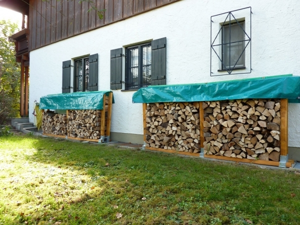 Picture of Furniture Small And Narrow Side Yard Spaces With Firewood Stacked In Diy Outdoor Rack Storage Ideas Outdoor Firewood Rack Outdoor Firewood Storage Racks Outdoor Storage For Small Spaces