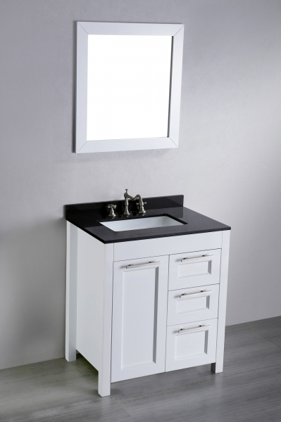 Picture of Modern Style White Bathroom Floor Cabinet With Drawers Come With Small Bathroom Vanities With Drawers
