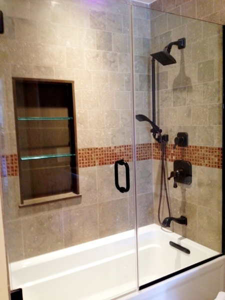 Remarkable Bathroom Remodel Ideas Minimalist Shower With Glasses Door And Small Bathroom Renovation With Subway Tile In Shower
