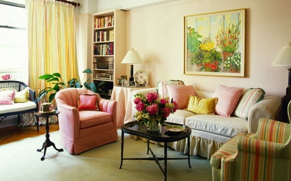 Alluring Beautiful Purple Interior Of Small Living Room Ideas With Room Furnished Small Sized Living Room