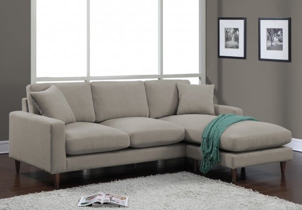 Amazing Decoration Living Room Furniture Stylish Light Gray Small Small Sofa With Chaise Lounge