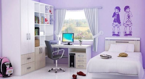 Decorate A Teen Girls Bedroom With Single Size Bed And Small Room