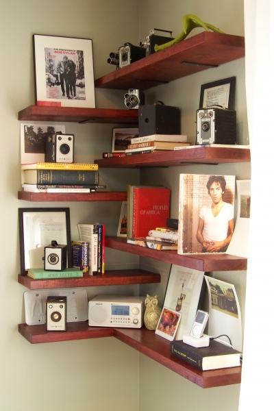 Best Corner Shelves Ideas For Small Space Or Home Office Intended For Shelving For Small Spaces