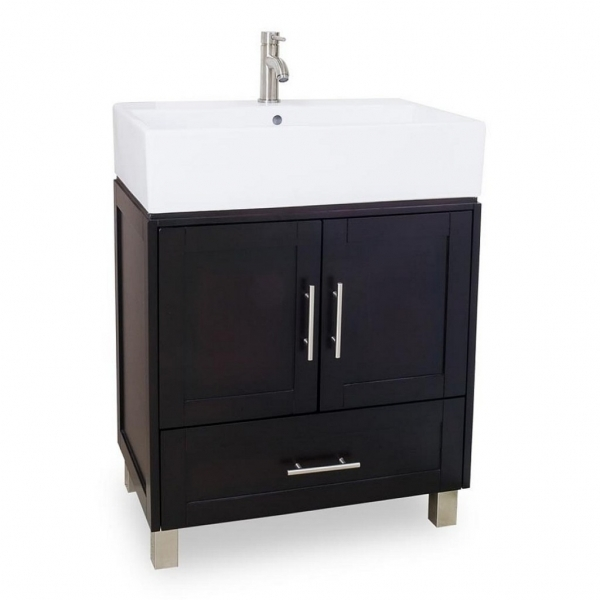 Best Small Bathroom Sinks And Cabinets Featuring Brown Laminated Wooden Vanities For Small Bathrooms