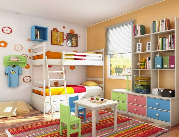 Fantastic Exciting Small Kids Room Ideas With Modern Interior Russet Color Modern Children Bedroom Small