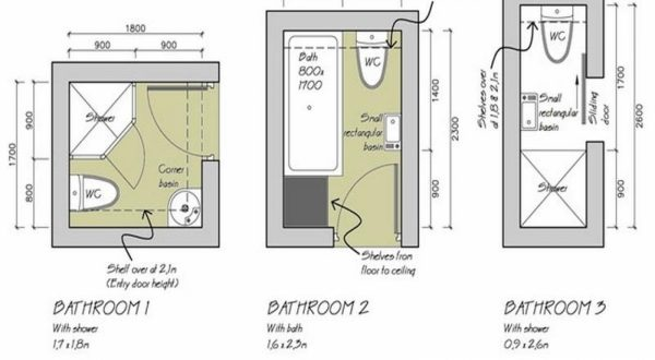 Plans For Small Bathrooms
