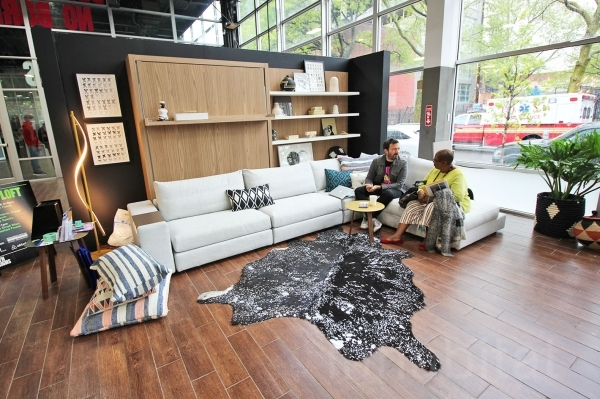 Fascinating Luxurious 400 Square Foot 39micro Loft39 Shows Off Small Living Senior Living Small Apartment Furnishing