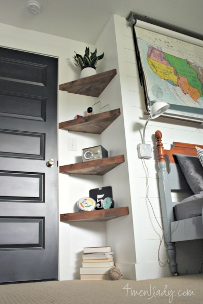 Image of 1000 Ideas About Bedroom Wall Shelves On Pinterest Girl Bedroom Shelving For Small Spaces