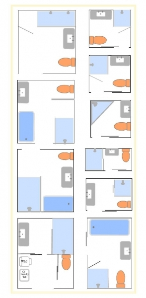 Image of 1000 Ideas About Small Bathroom Layout On Pinterest Modern Plans For Small Bathrooms