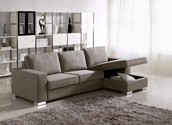 Image of Great Design Modern Sectional Sofa Small Sofa With Chaise Lounge