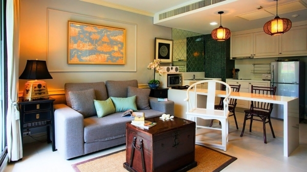 Image of Living Room Kitchen Combo Small Living Space Design Ideas Youtube Tiny Living Room Dining Room Combo