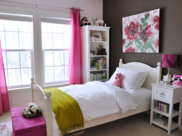 Image of Modern Home Interior Bedroom For Teenage Girl Design Ideas With Decorate A Teen Girls Bedroom With Single Size Bed And Small Room