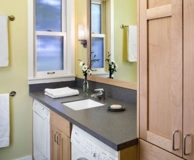 Tiny House Bathrooms With Stackable Washer And Dryer