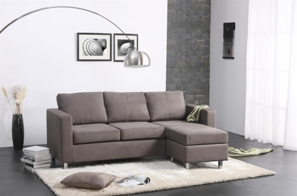 Incredible Grau Suede Small Sectional Sleeper Sofa With Chaise Lounge And Small Sofa With Chaise Lounge