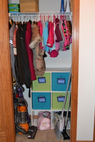 Incredible Small Coat Closet Organization For 2 Children Amp 2 Adults Youtube Small Closet Organization Ideas