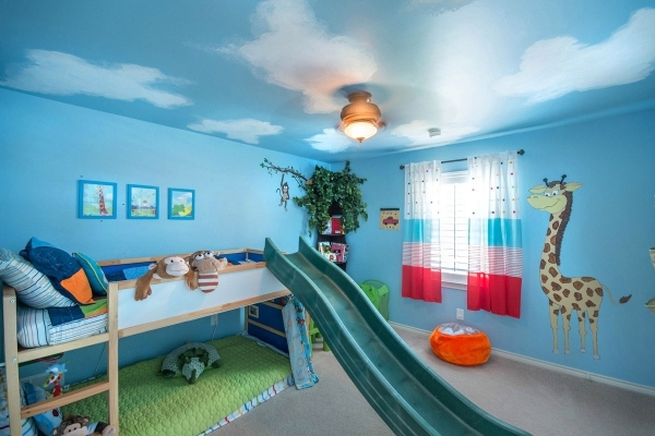Inspiring Excellent Kids Room Design With Army Themes And Bunk Beds Plus Bunk Bed Decor Ideas For Coed Small Room