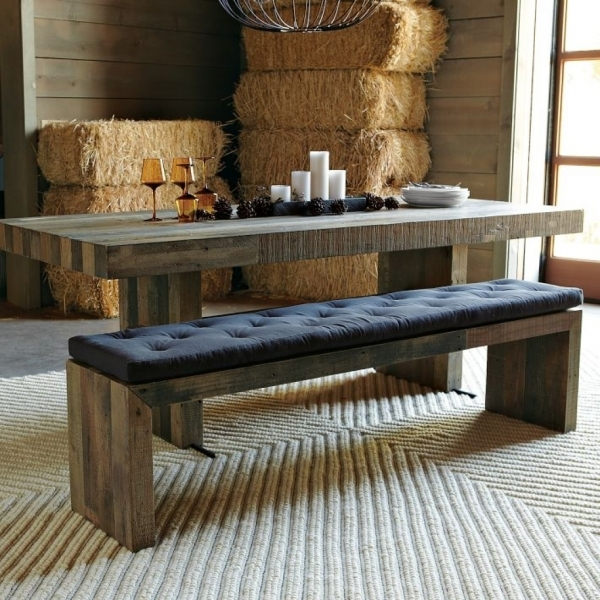 Marvelous Rustic Dining Room Set With Bench Recycled Wood Dining Table Black Small Bench Table