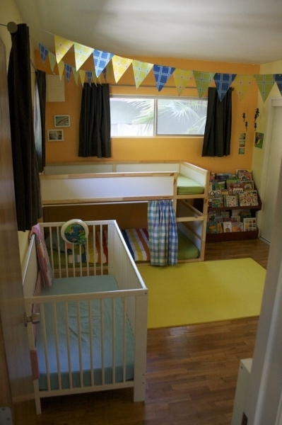Wonderful Boygirl Room Share Ikea Kura Bunk Bed First Step Of Ladder Bunk Bed Decor Ideas For Coed Small Room