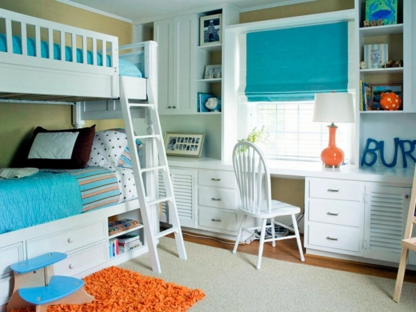 Wonderful Color Schemes For Kids39 Rooms Home Remodeling Ideas For Bunk Bed Decor Ideas For Coed Small Room