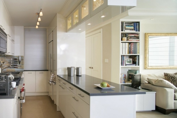 Wonderful Kitchen White Kitchen In Small Space With Amazing Great Idea Kitchen Designs For Small Spaces
