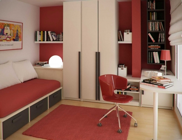 Alluring Captivating Wall Rust Color Kids Room Ideas Also Small Kids Bed Decorating A Small Childrens Room