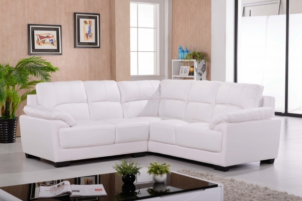 Alluring Idyllic White Italian Leather Corner Sofa Design Using Loose Corner Sofas For Small Rooms