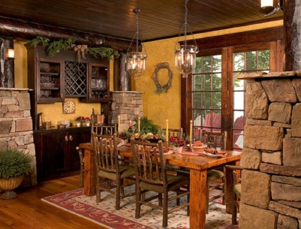 Amazing Rustic Dining Room Wall Decor Decorating Small Rustic Dining Rooms
