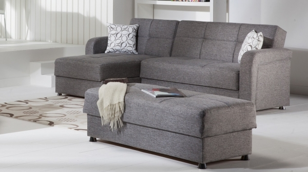 Awesome Cado Modern Furniture Vision Modern Sectional Sleeper Diego Grey Sectional Sleeper Sofa For Small Spaces