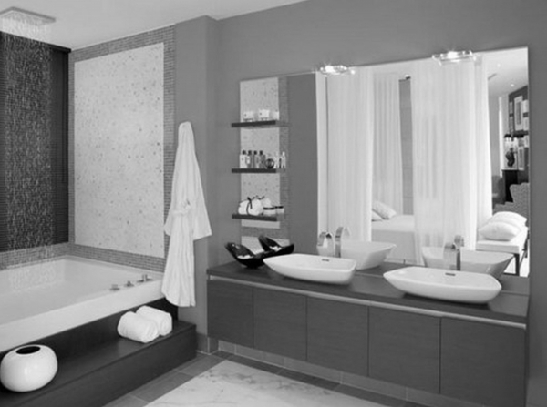 Awesome For Paint With Two Color Bathrooms Small Bathroom With Grey Color