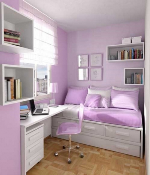 Beautiful Perfect Purple Teenage Girl Bedroom Ideas For Small Rooms Small Small Bedroom For Girls