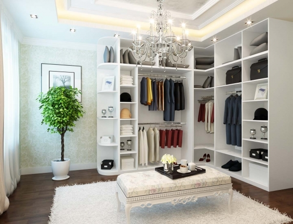 Image of Classy Modern Corner Wardrobes Which Has Open Storage Spaces And Beautiful Built In Wardrobes For A Small Bedroom