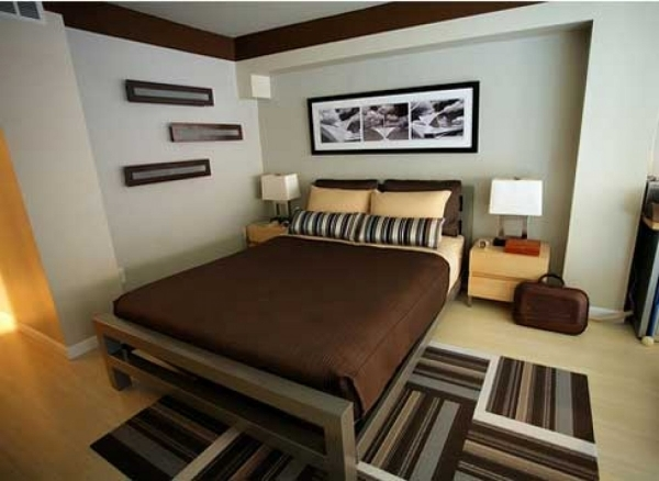 Image of Marvelous Small Bedroom Ideas Using Brown Blaster Ideas With Brown Small Bedroom Desings In Brown