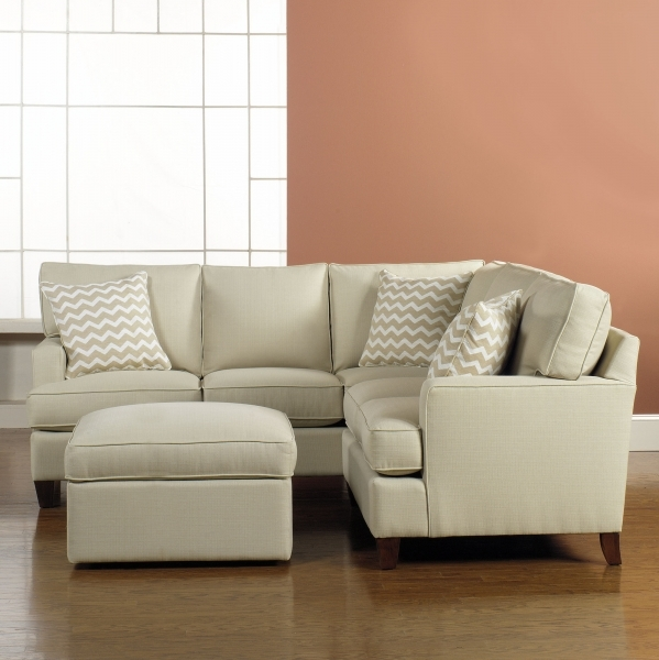 Image of Small Gray Fabric Sectional Sofas Which Mixed With White Living Small Corner Sectional Sofas