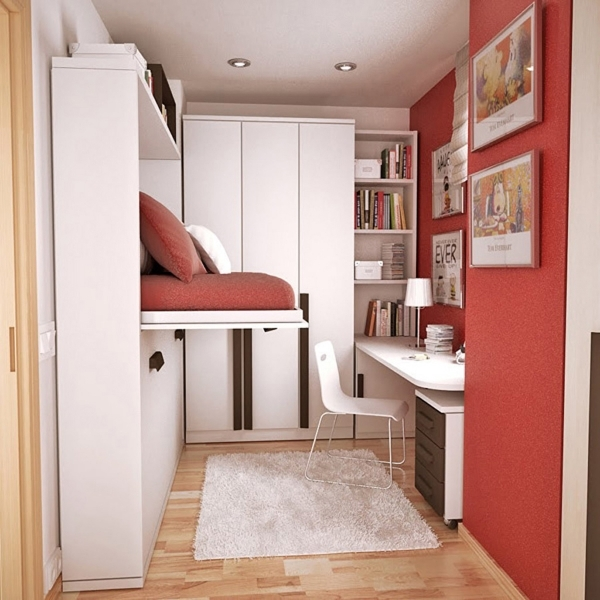 Image of Stripes Wall Idea And Modern Corner Wardrobe Design With Cute Corner Wardrobes For Small Rooms