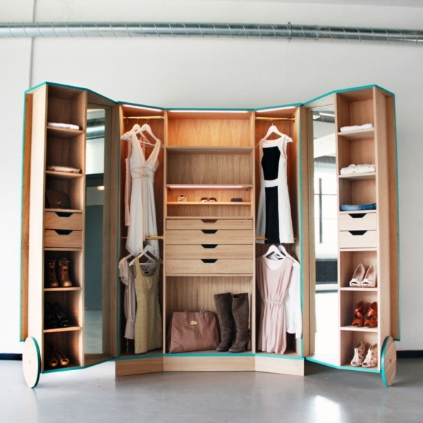 Incredible Innovative Portable Wooden Reach In Wardrobe Design With Open Built In Wardrobe Designs For Small Bedroom