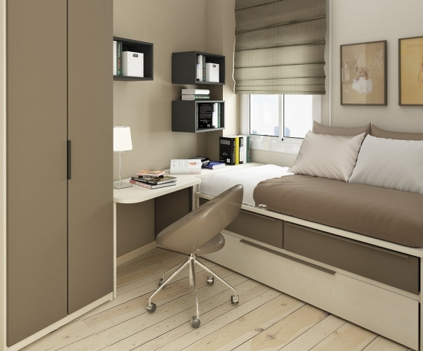Inspiring 9 Cool Bedroom Designs For Small Rooms Aida Homes Modern Bedroom Design For Small Rooms