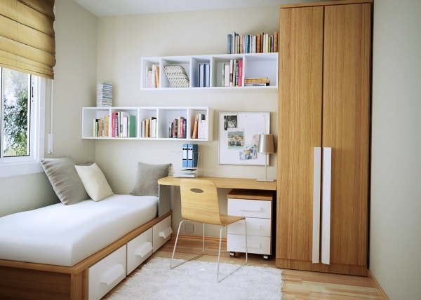 Inspiring Beautiful Home Interior Furniture For Small Bedroom Design Ideas Small Bedroom Design With Wardrobe
