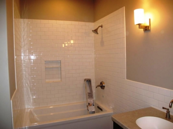 Inspiring Unique Subway Tile Bathroom Ideas Small Bathroom Designs With Subway Tiles