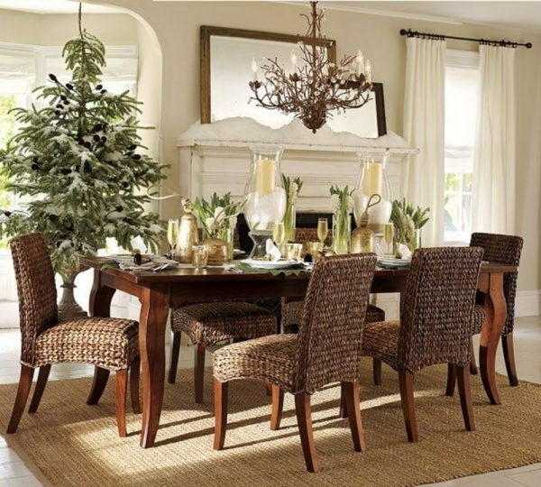 Marvelous Adorable Rustic Dining Room With Beige Wood Furniture Decorating Small Rustic Dining Rooms